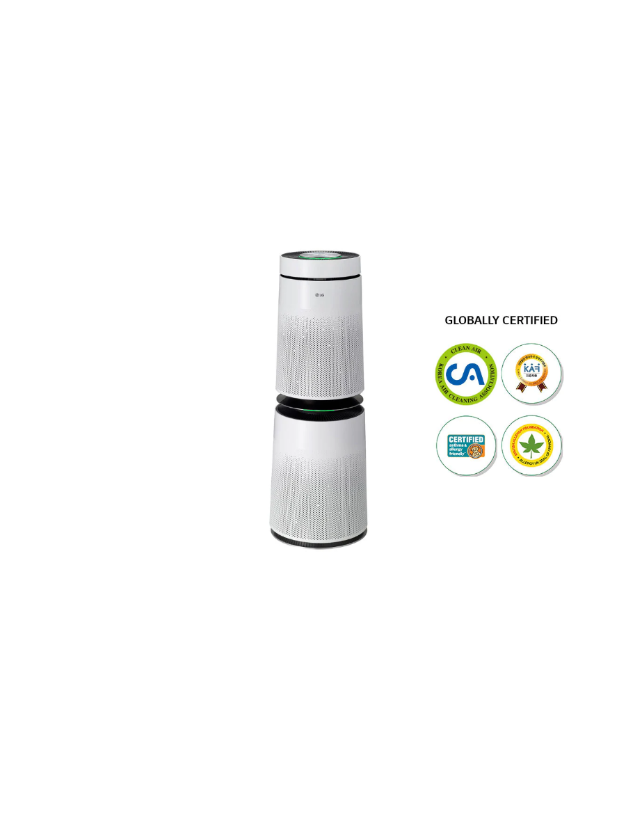 LG PuriCare 91 m² Coverage area, Baby Care Function, 6 step filtration, PM 1.0 Sensor